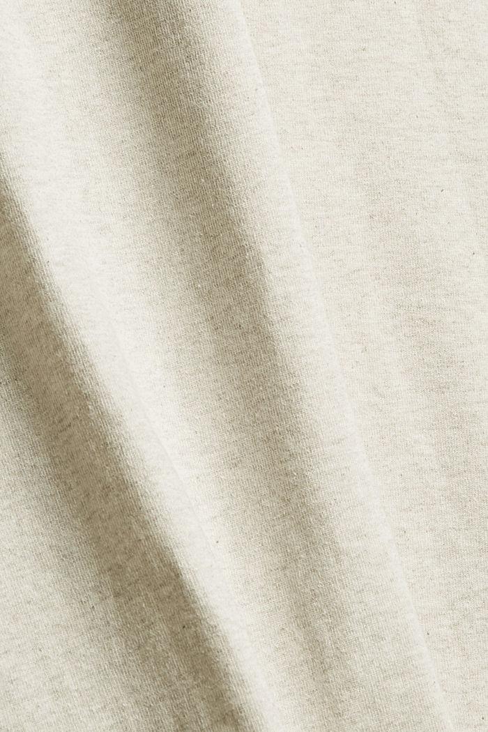 Haut en jersey doté d'une poche, coton biologique, LIGHT BEIGE, detail image number 4