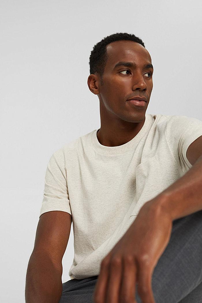 Jersey-Shirt mit Tasche, Organic Cotton