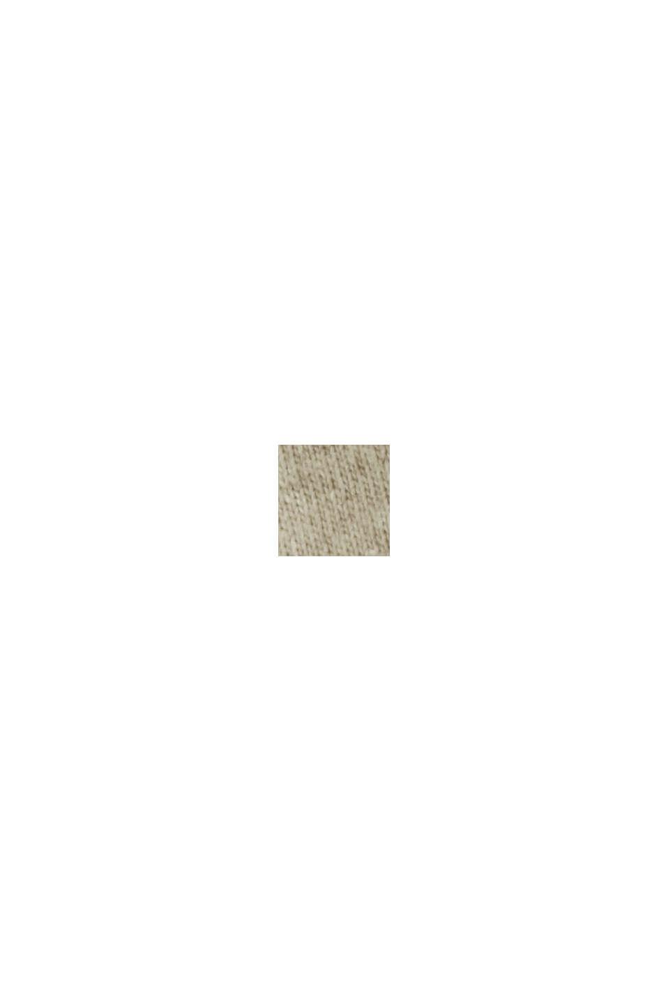 Jersey-Shirt mit Tasche, Organic Cotton, LIGHT BEIGE, swatch