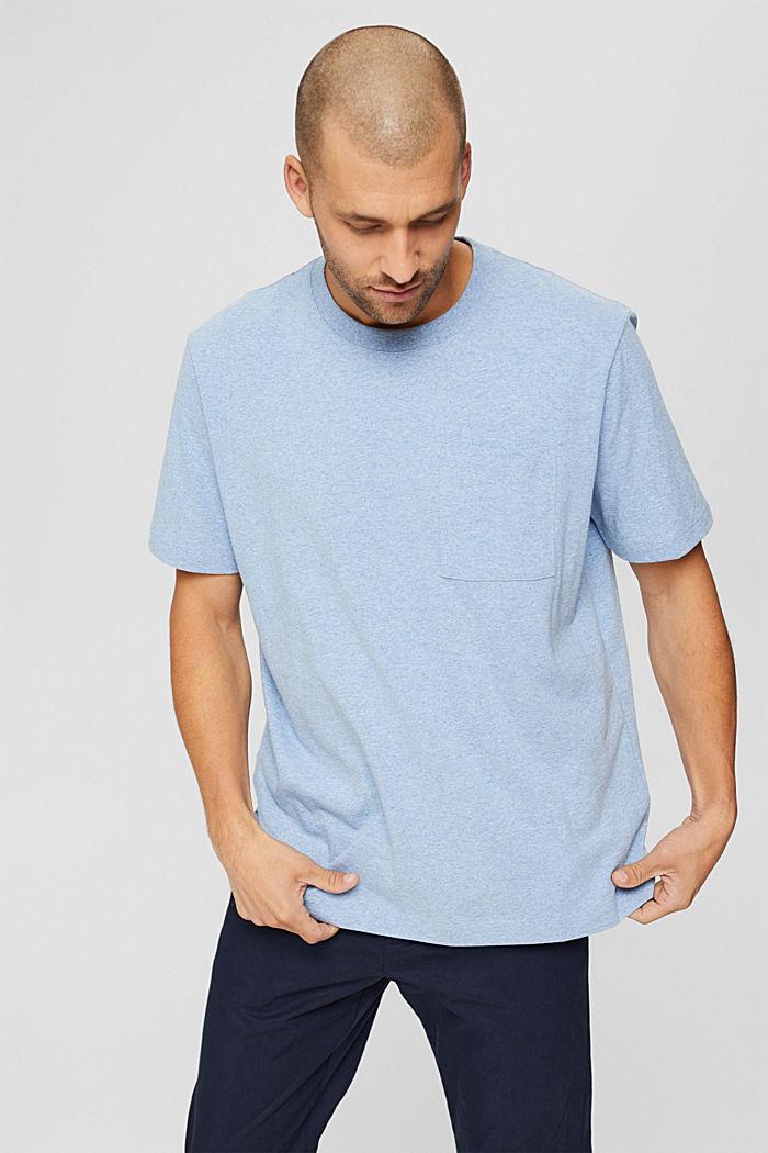 Haut en jersey doté d'une poche, coton biologique, PASTEL BLUE, detail image number 0