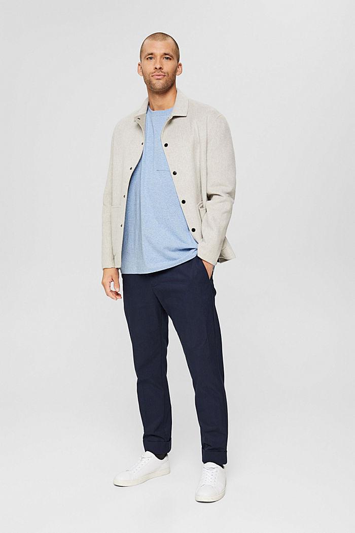 Haut en jersey doté d'une poche, coton biologique, PASTEL BLUE, detail image number 2