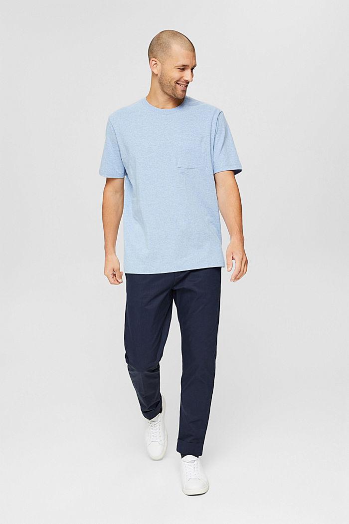 Haut en jersey doté d'une poche, coton biologique, PASTEL BLUE, detail image number 6