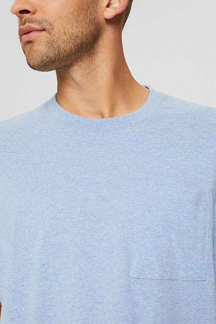 Haut en jersey doté d'une poche, coton biologique, PASTEL BLUE, detail image number 1