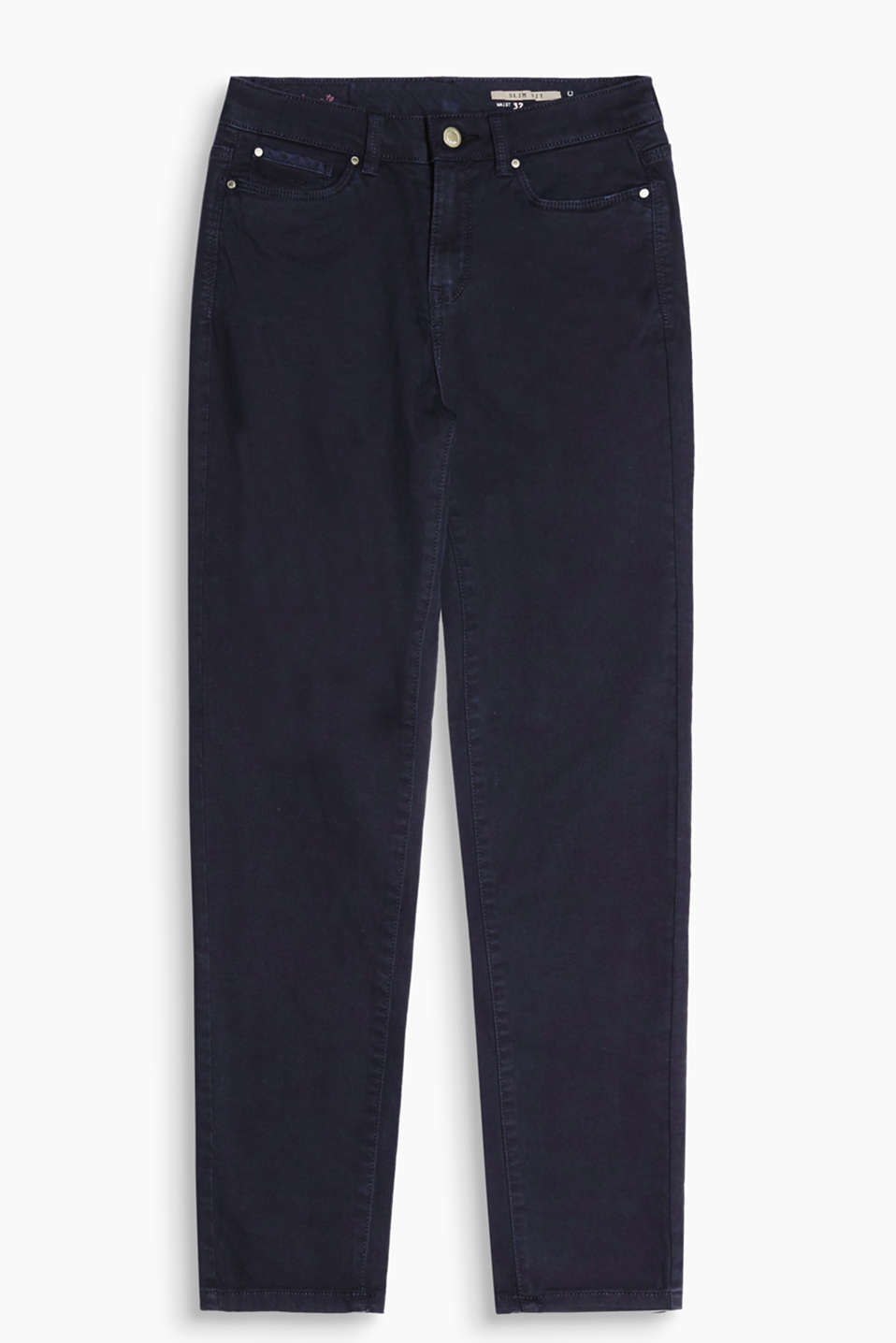 Slim-fitting five-pocket trouser made of cotton with added stretch for comfort