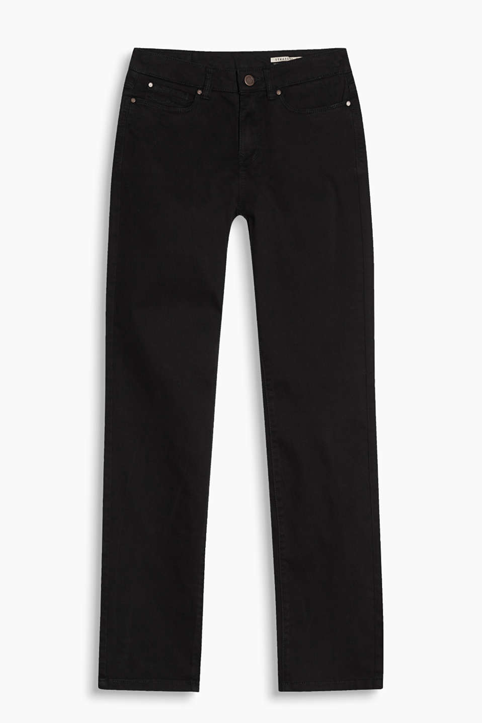 Five-pocket trousers in garment-washed cotton with stretch for comfort