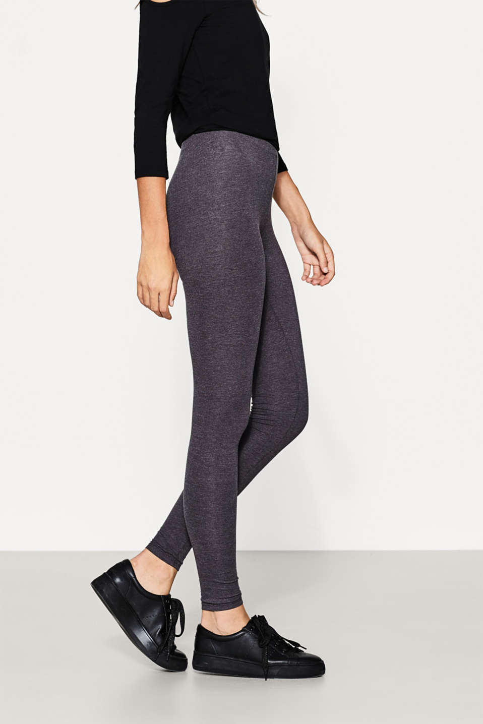 edc - Basic Leggings aus Baumwoll-Mix