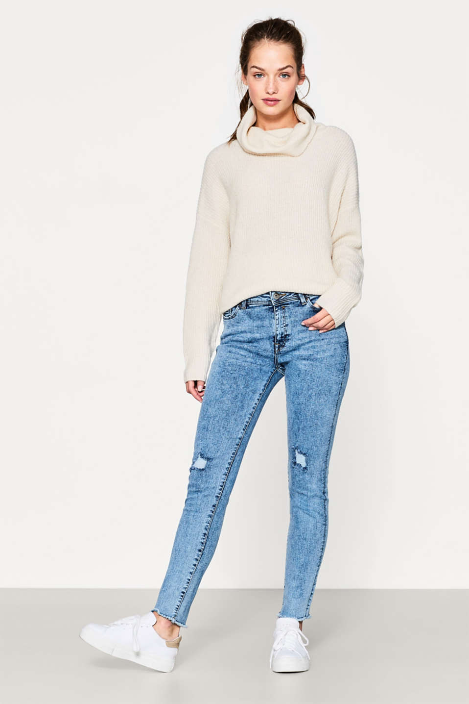 edc - Acid-washed stretch jeans