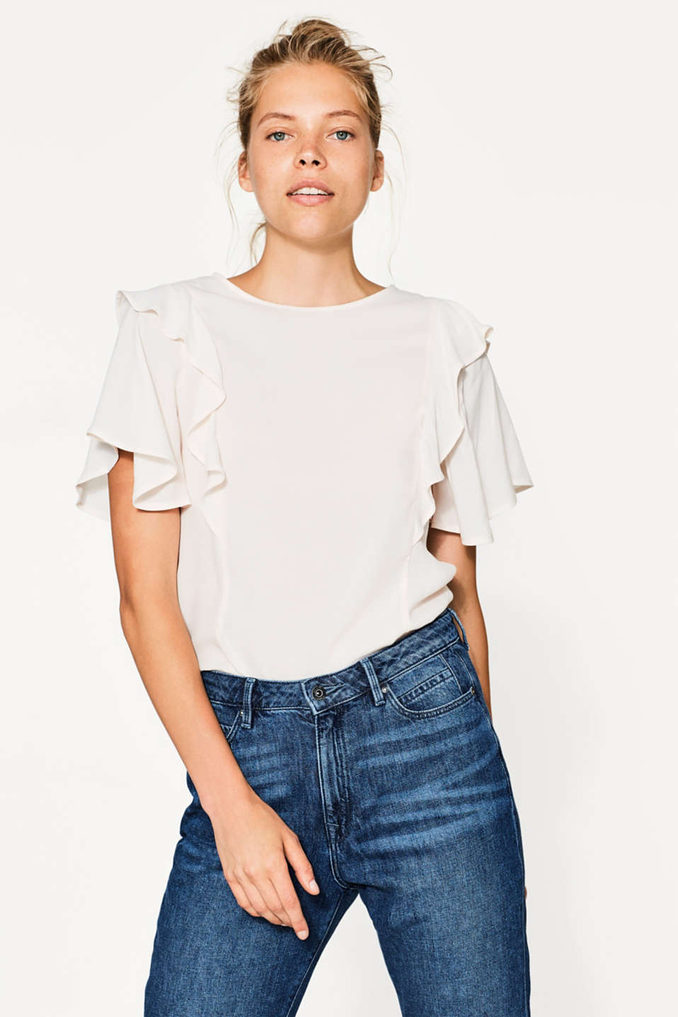 edc - Blouse top with flounces