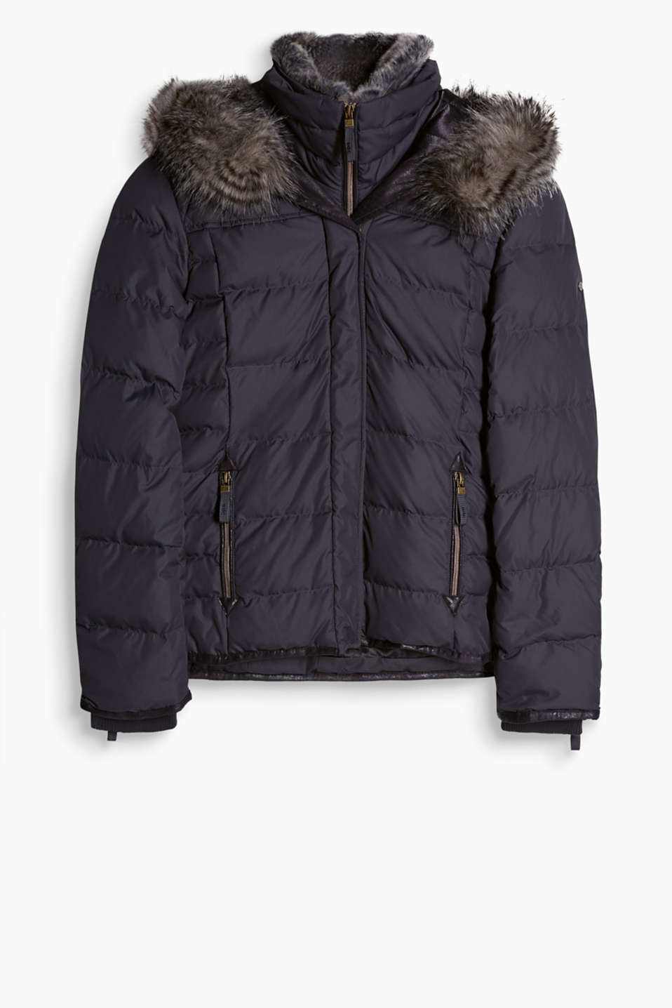 Sporty quilted jacket with high-performance details and premium down/feather filling