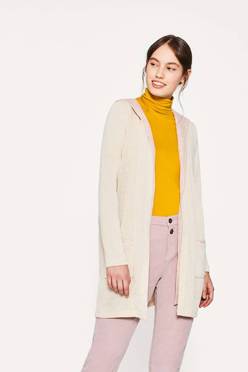 edc - Layered-style hooded cardigan