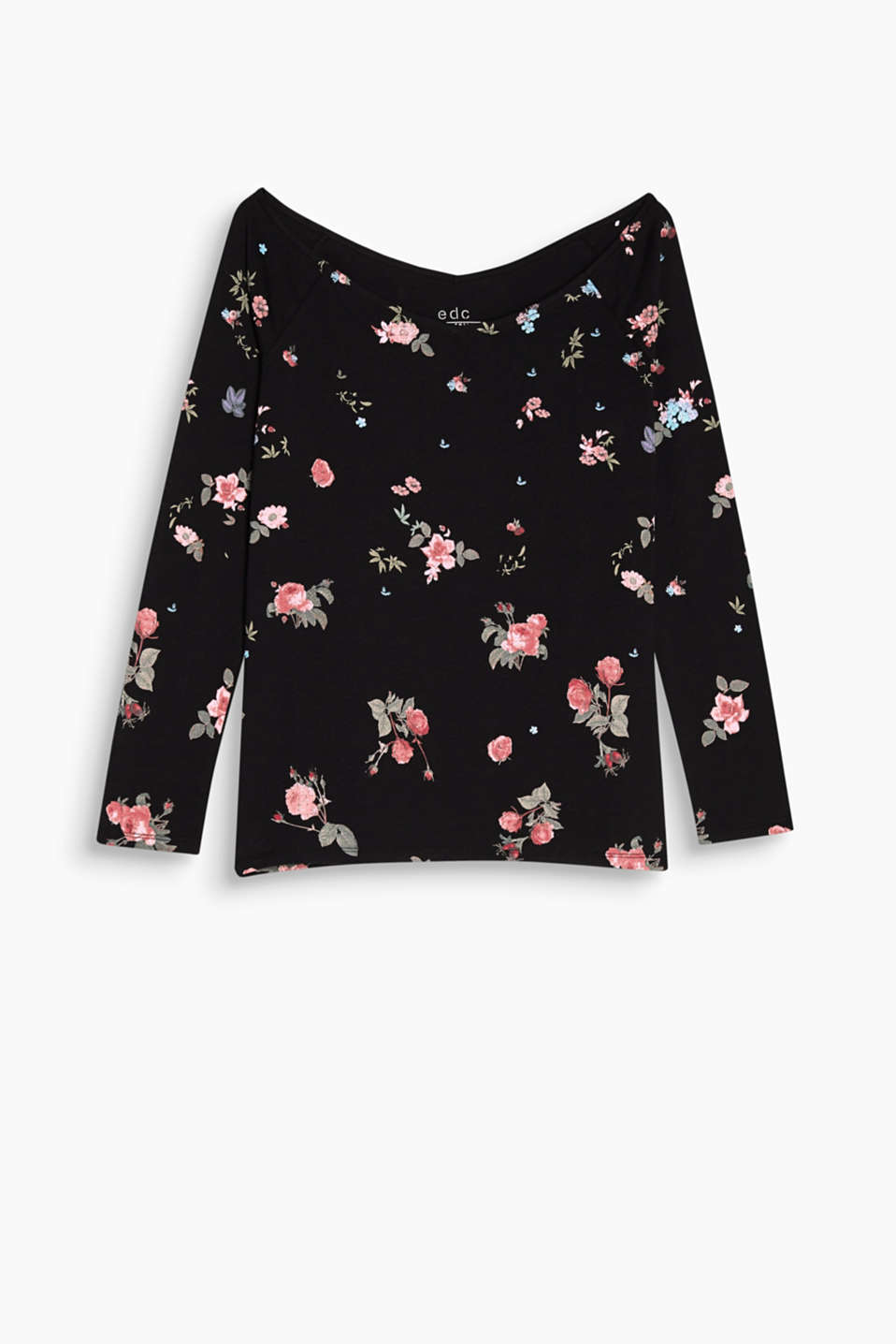 Show off your shoulders: Carmen top in stretchy cotton jersey with a floral print