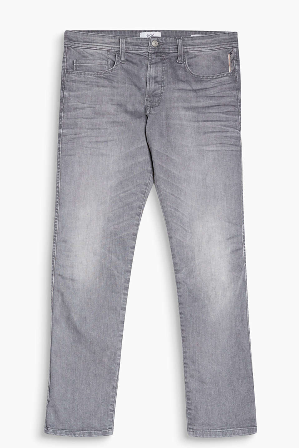 Alsidige, basic denimbukser i bomuld/stretch