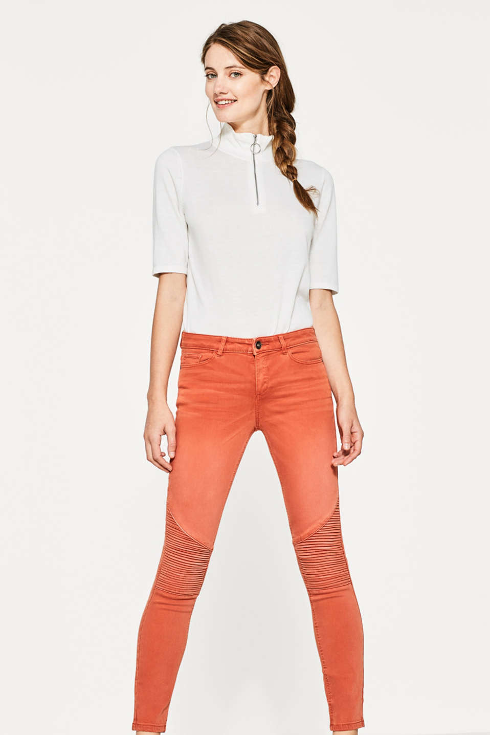 Esprit - Super-softe Stretch-Pants im Biker-Look