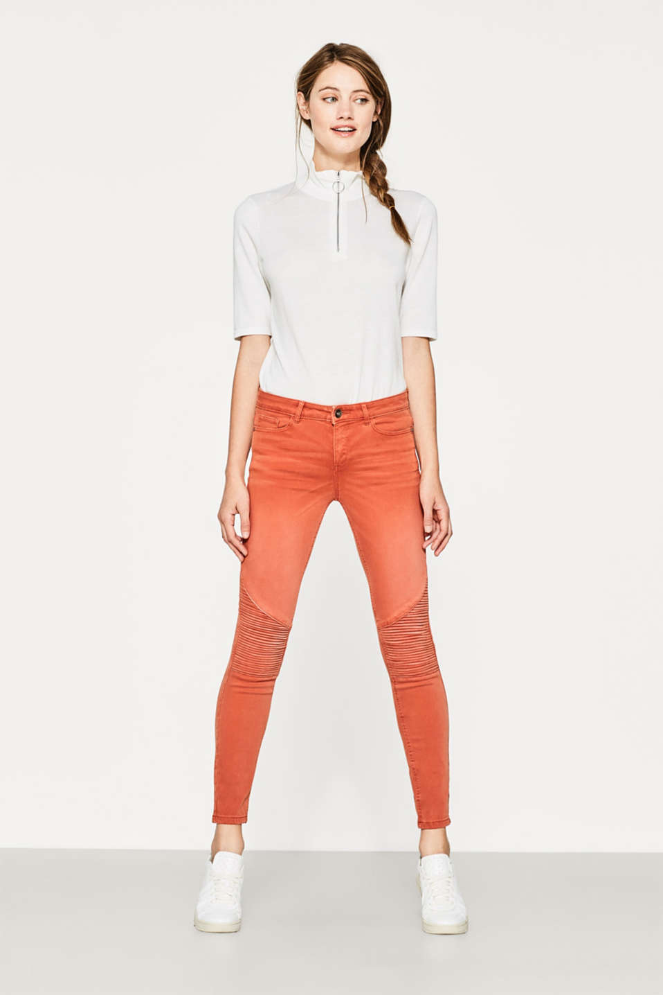 Super-softe Stretch-Pants im Biker-Look