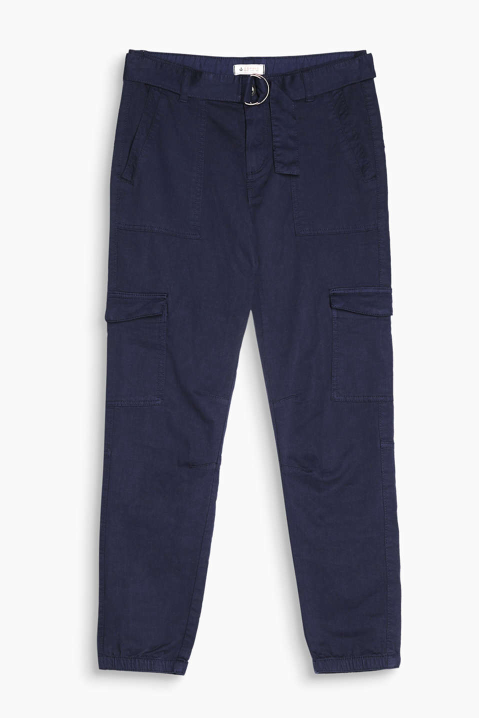 We love casual and practical details - like these chinos with cargo pockets, a wide belt and leg cuffs!