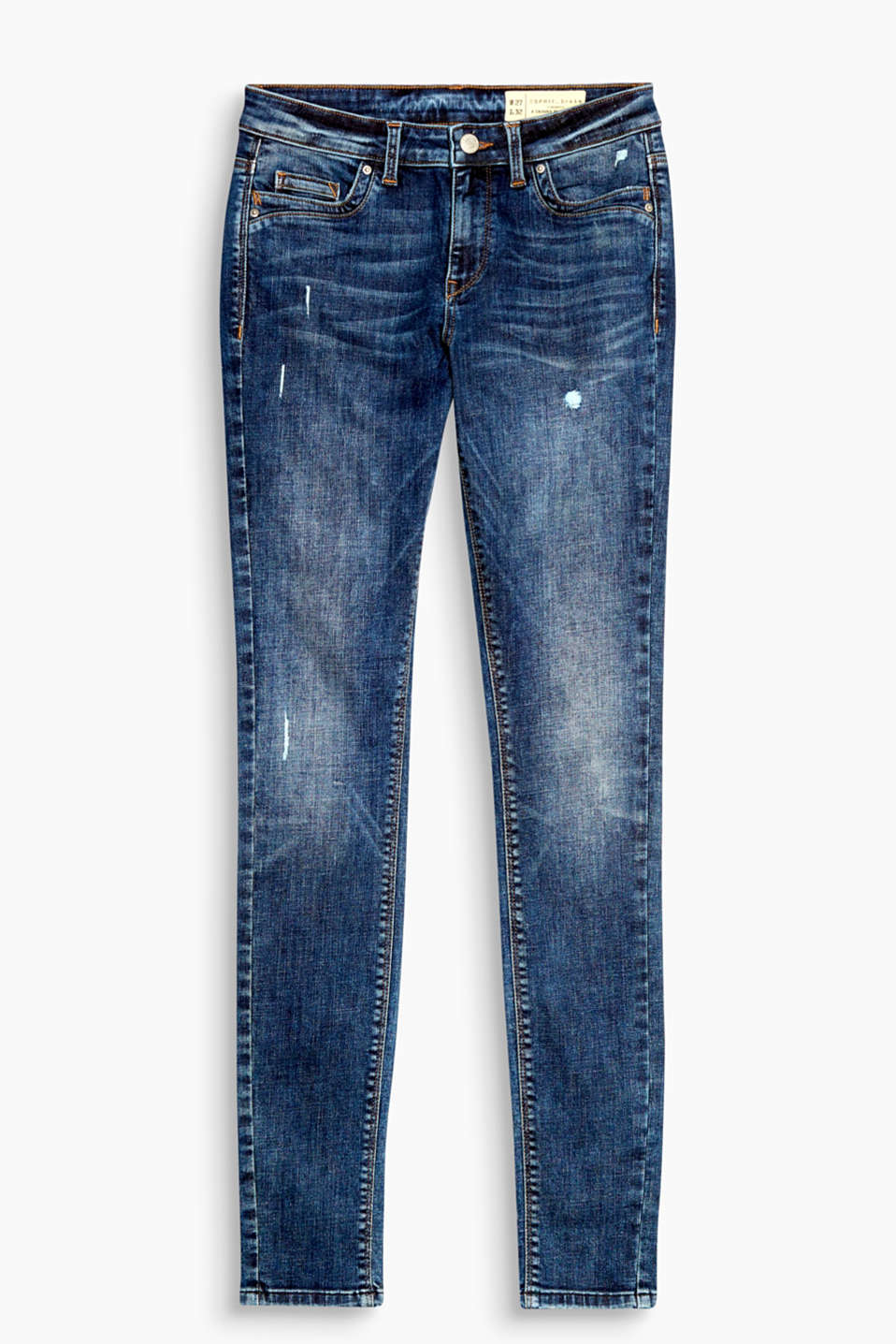 Mit Used-Effekten: Skinny-Jeans aus Stretch-Denim