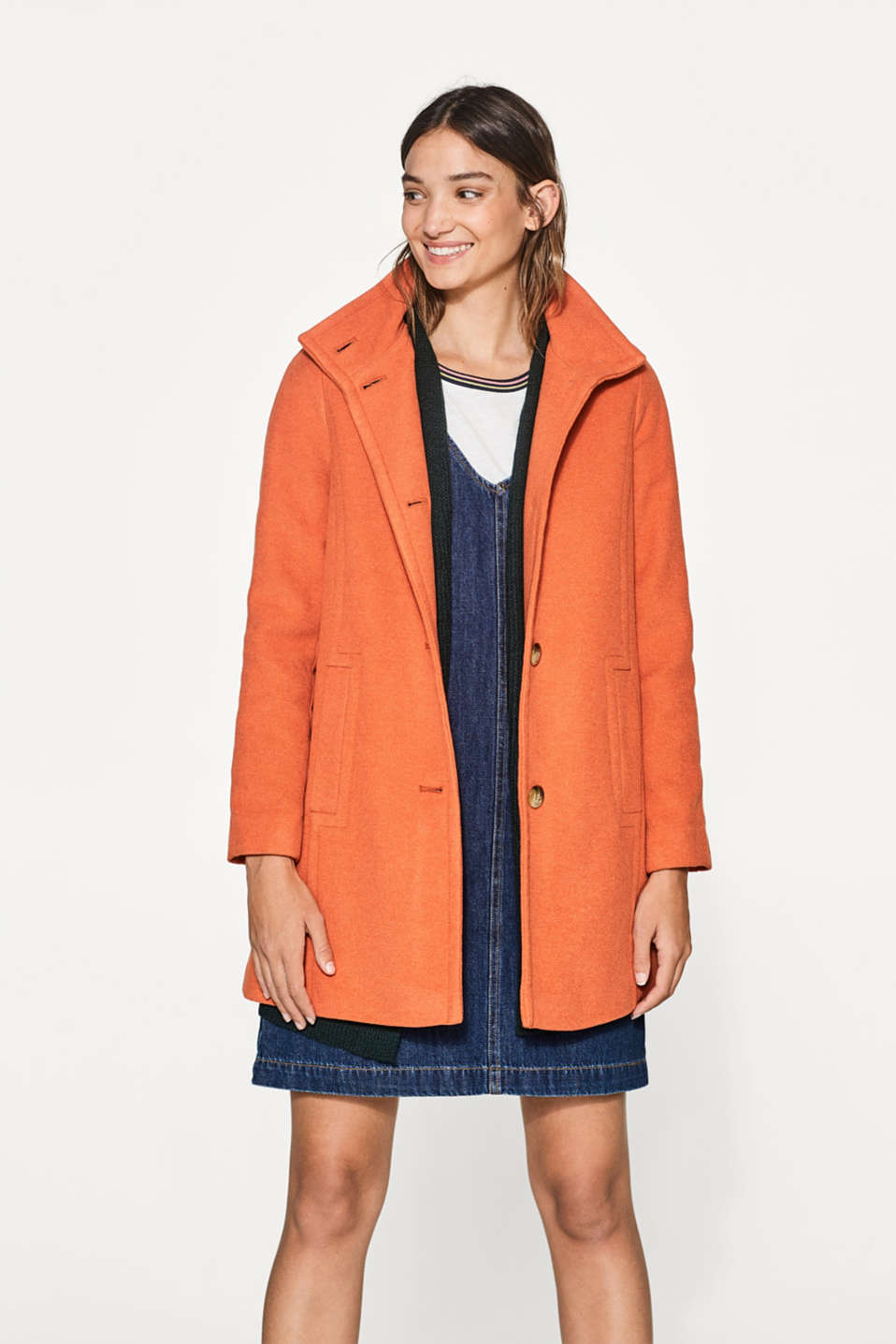 Esprit - Soft wool blend coat
