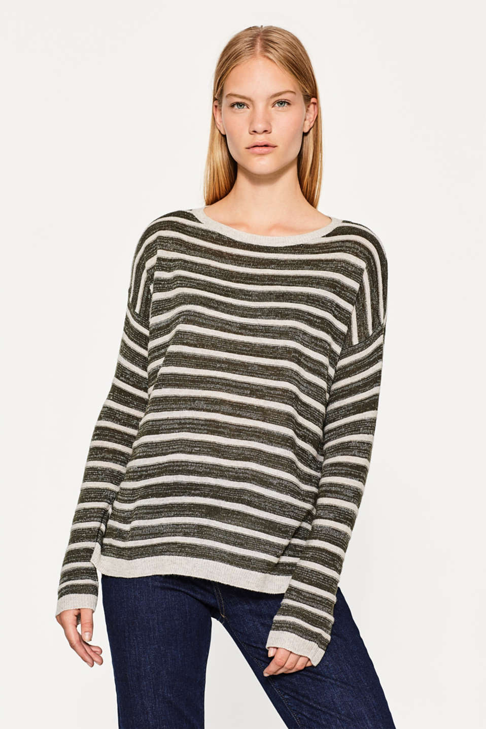 Esprit - Striped jumper with wool and lurex