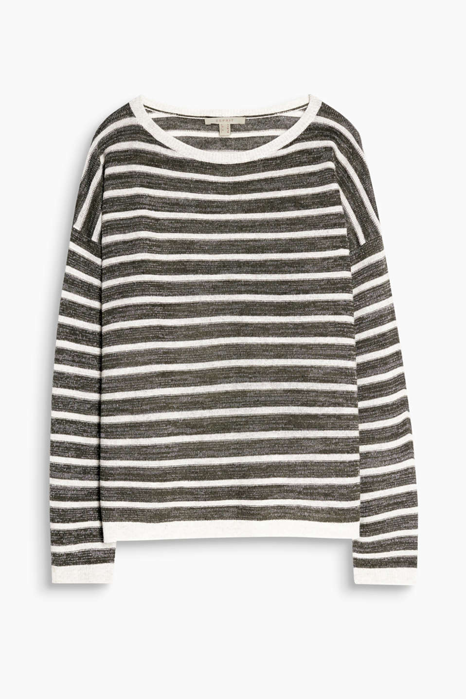 Striped jumper with wool and lurex in a casual design