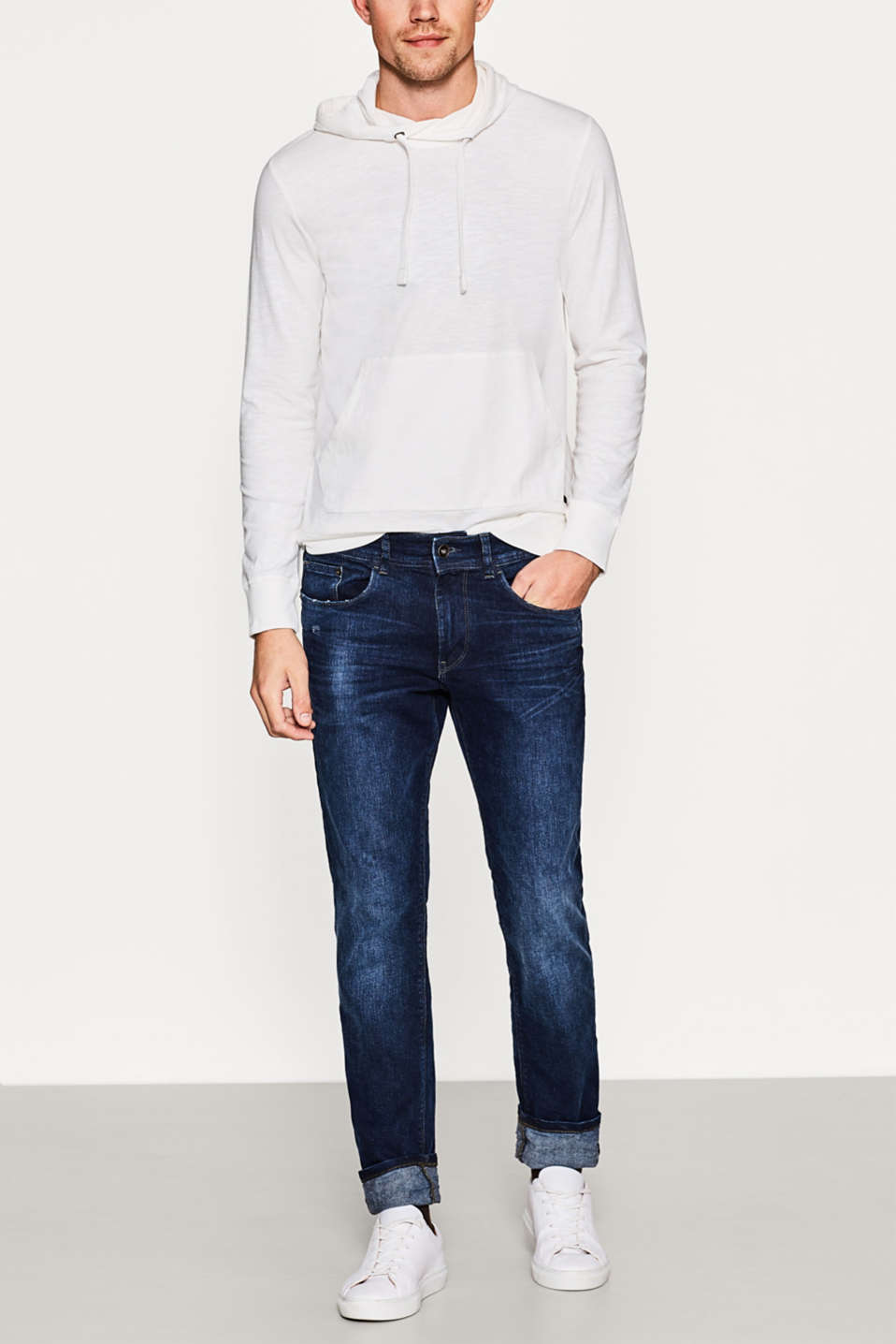 Esprit - Jean 5 poches en denim stretch