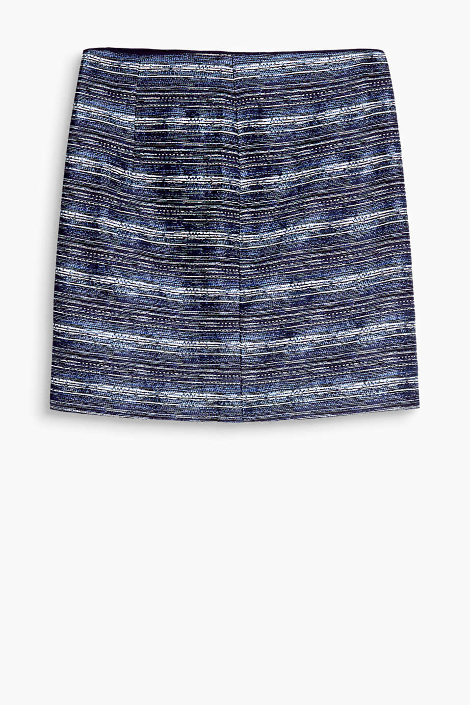 Skirt with a fine melange texture