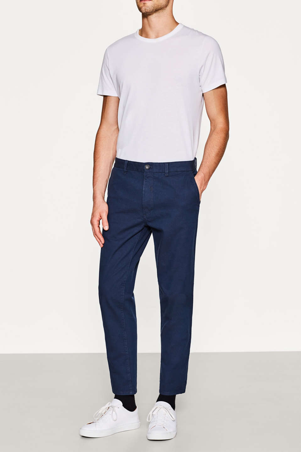 Esprit - Woven stretch cotton chinos