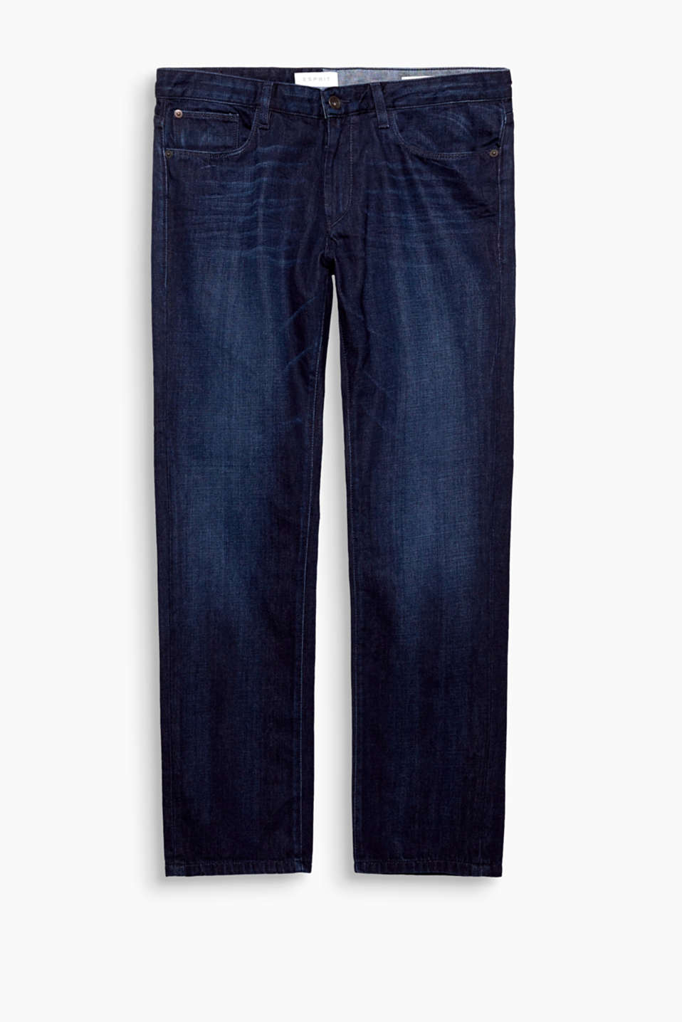 Classic five-pocket jeans in 100% cotton