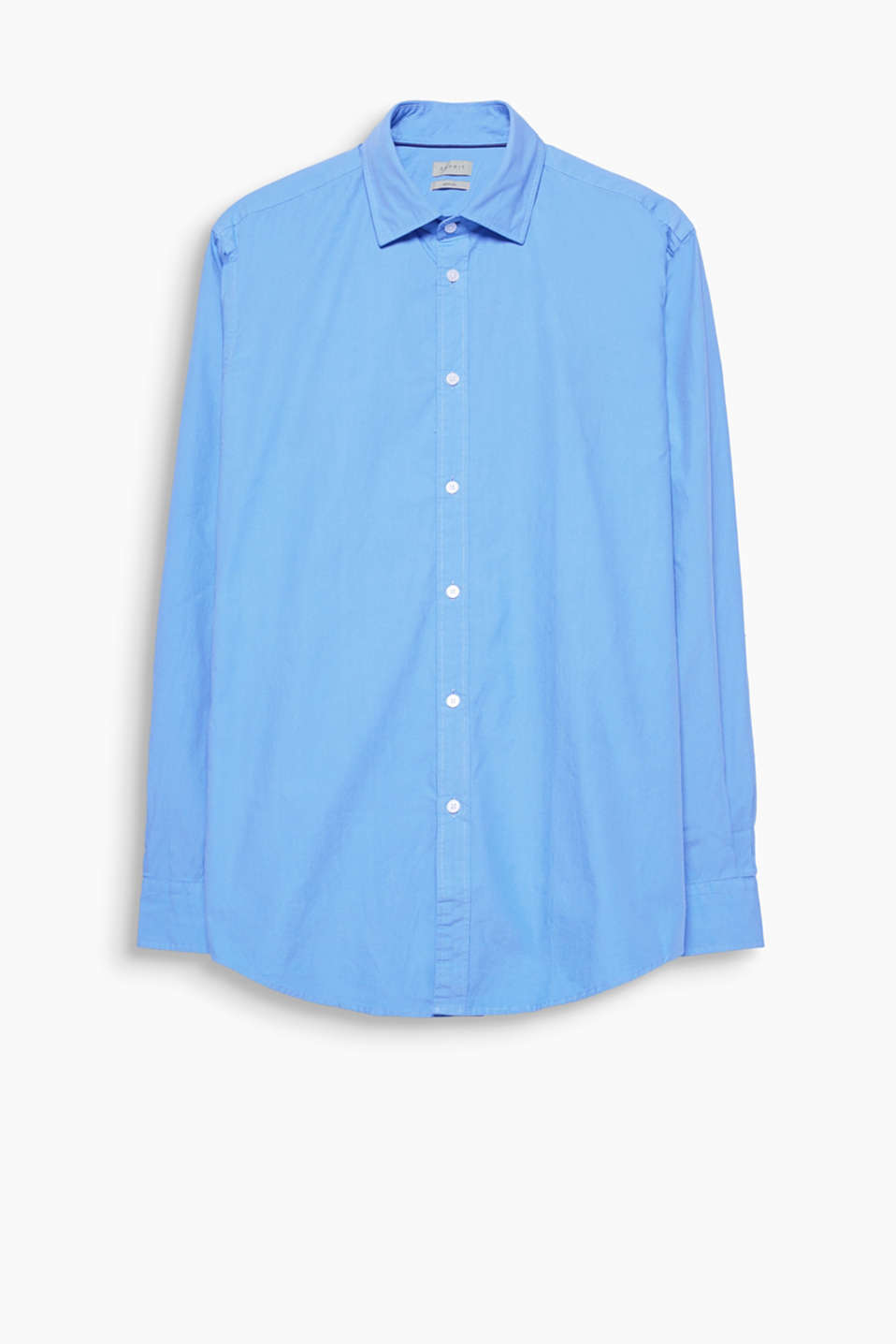 Pure cotton shirt with a classic Kent collar