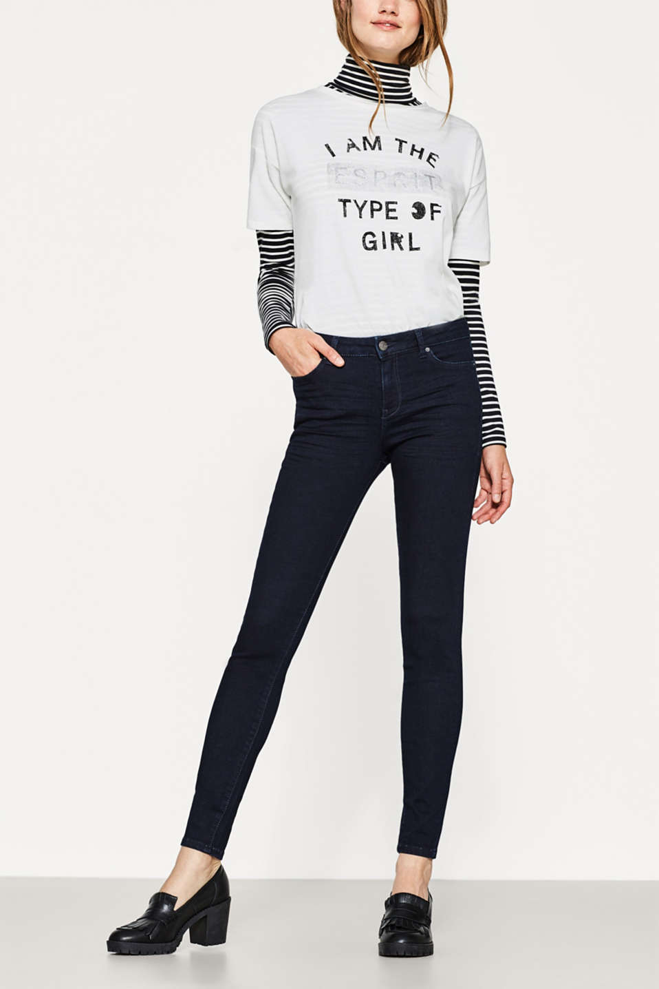 Esprit - Stretch-Jeans mit Shaping-Effekt