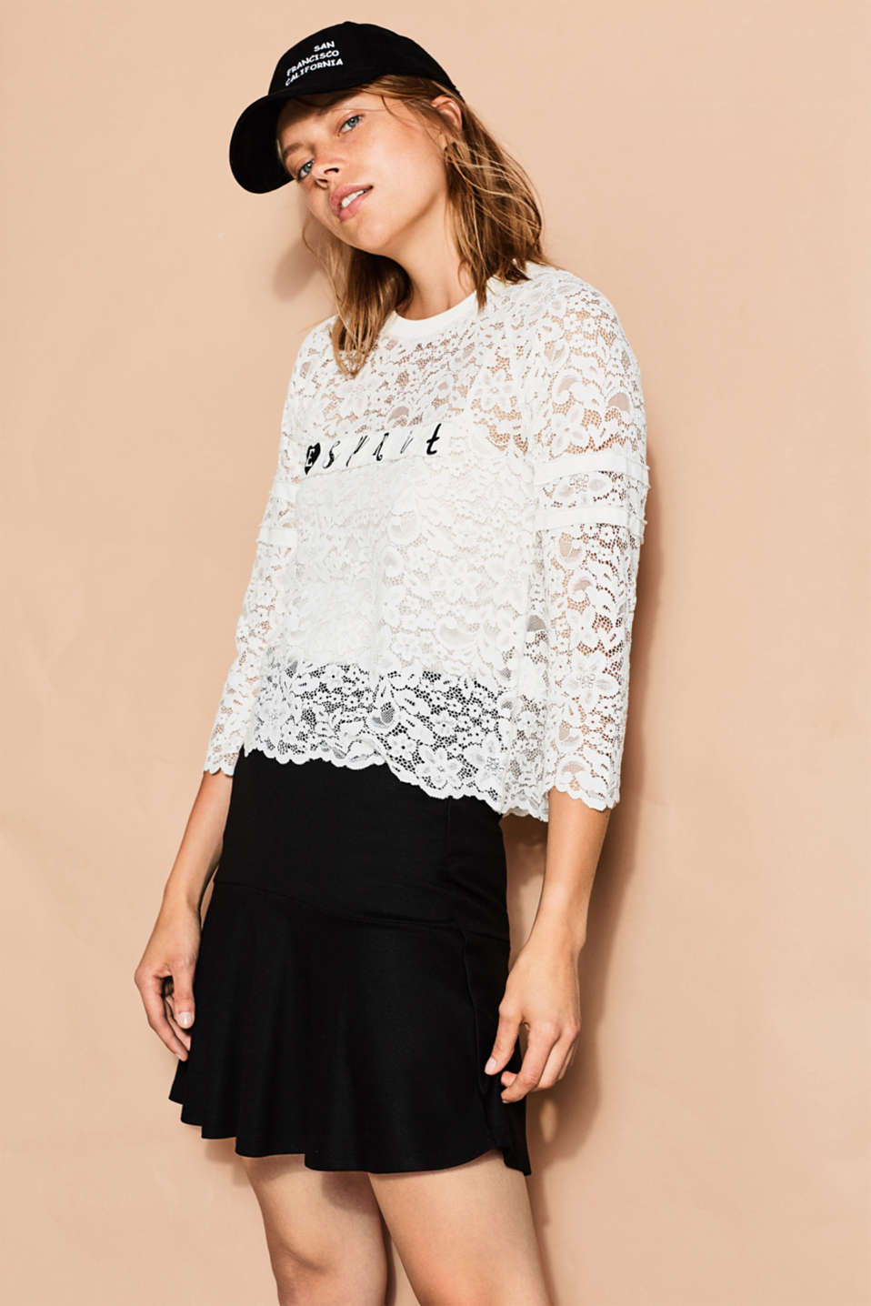 Esprit - Layer look lace top