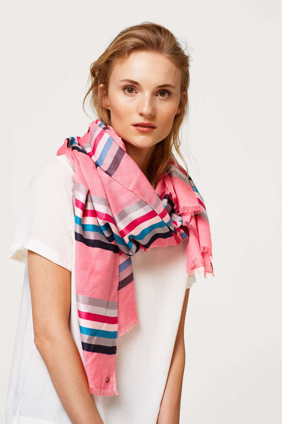 Colourfully striped scarf