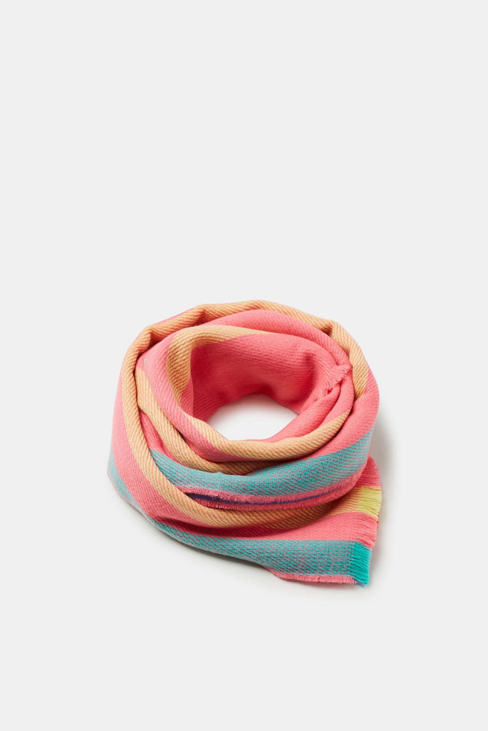 edc - Oversized scarf with bold stripes
