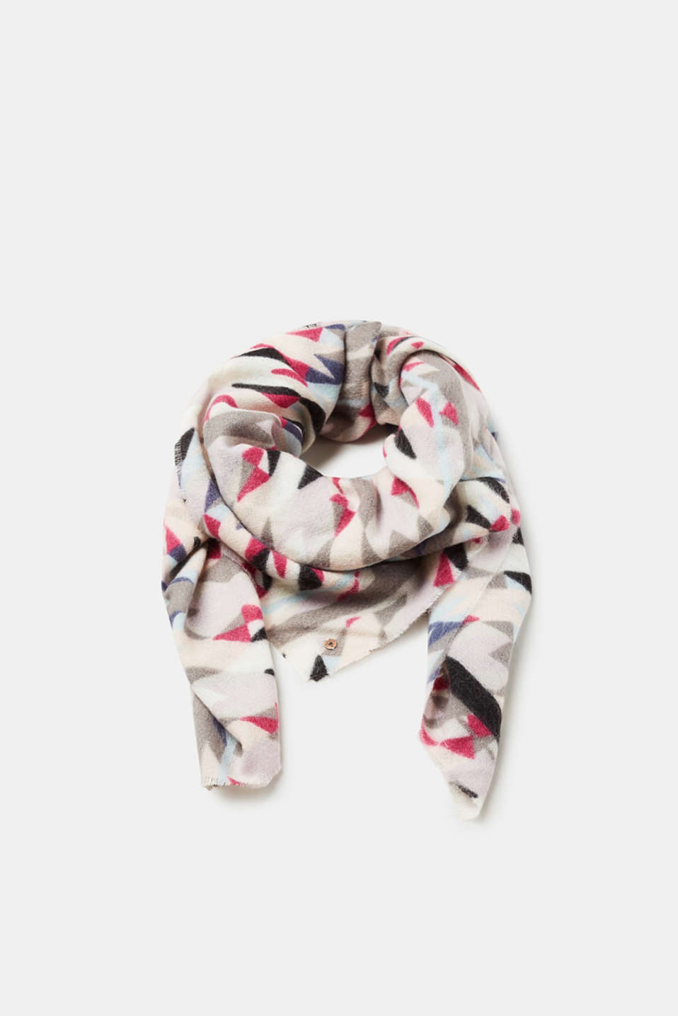 edc - Woven scarf with a striking pattern