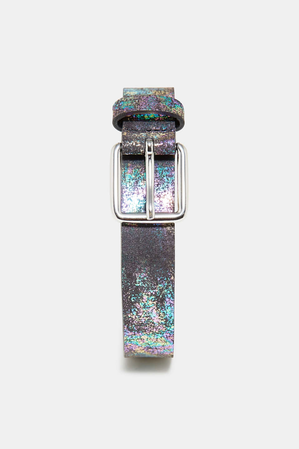 edc - Leather belt with holographic texture