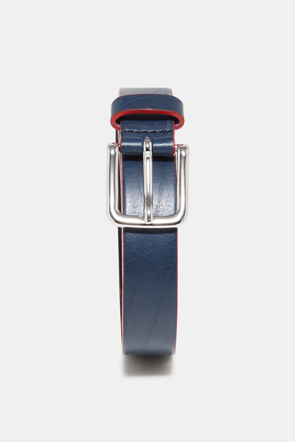 edc - Belt with coloured edges, 100% leather