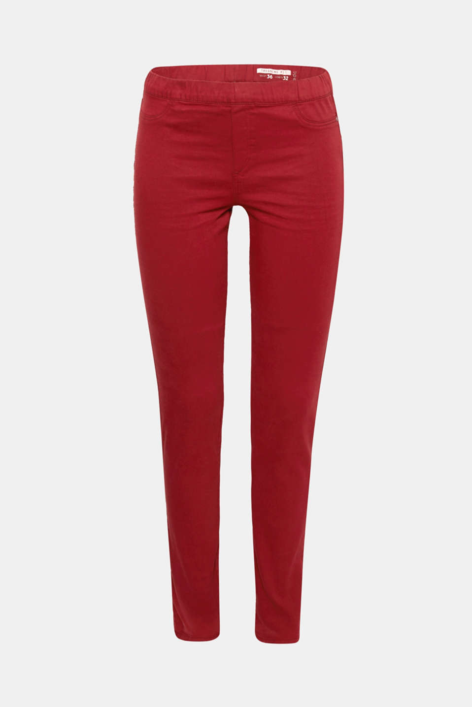 These treggings in stretchy blended cotton with an elasticated waistband hug the body perfectly and offer countless outfit options.