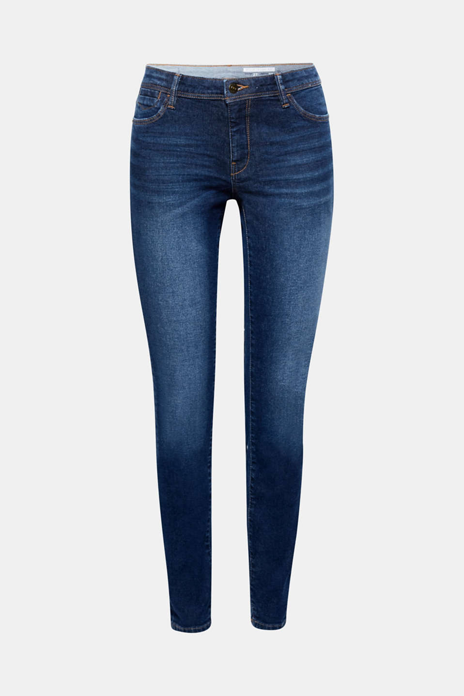 Create a beautiful silhouette and are available in many different garment-washed effects: skinny stretch denim jeans!
