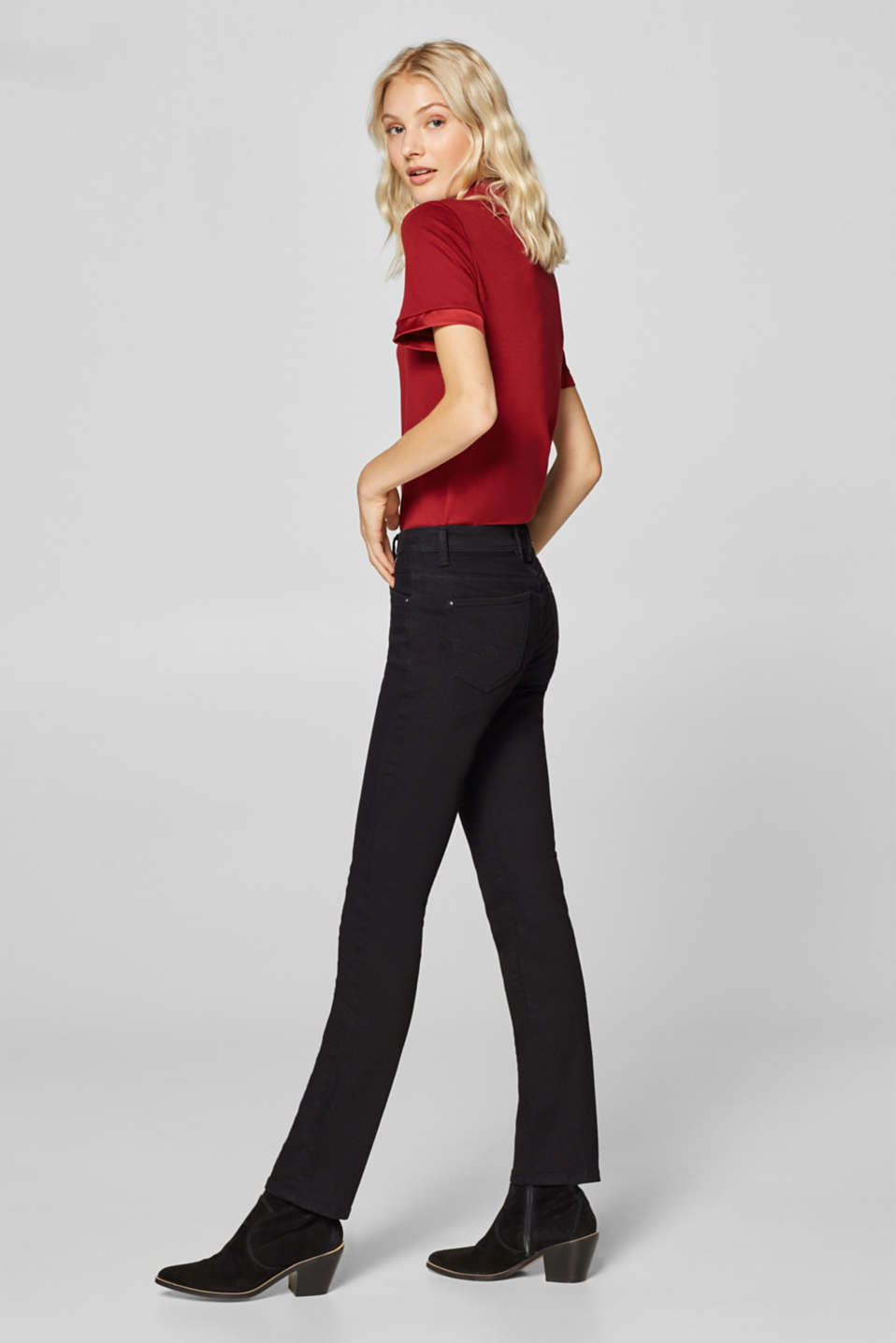 Stretch jeans in a recycled material mix