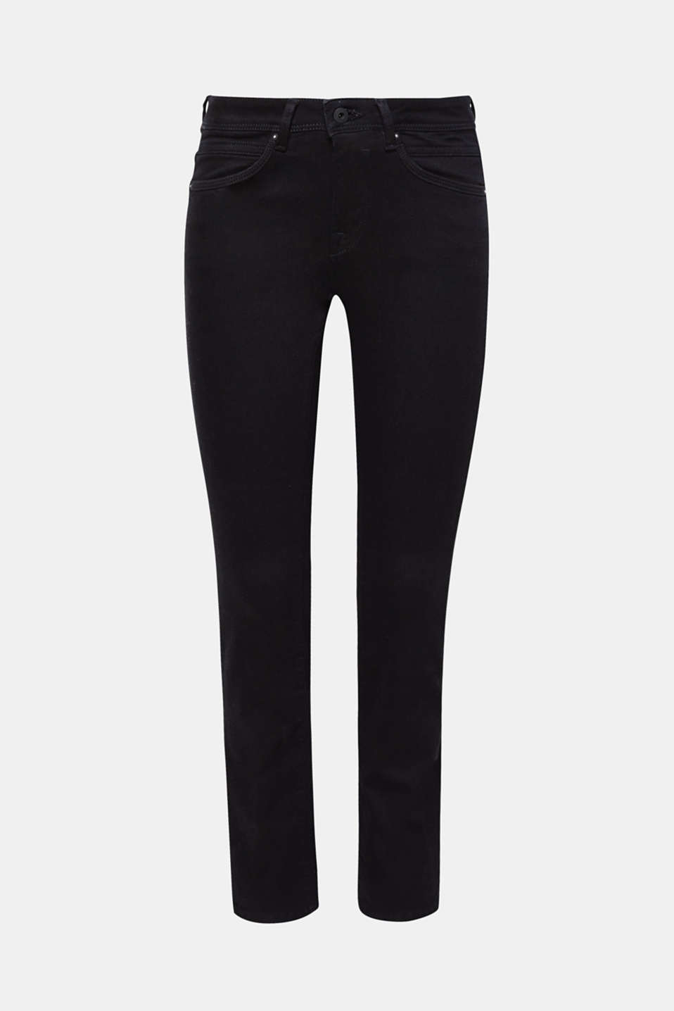 Your top basic: These jet black stretch jeans with a straight leg and stretch for comfort can be combined to create a wide range of outfits!
