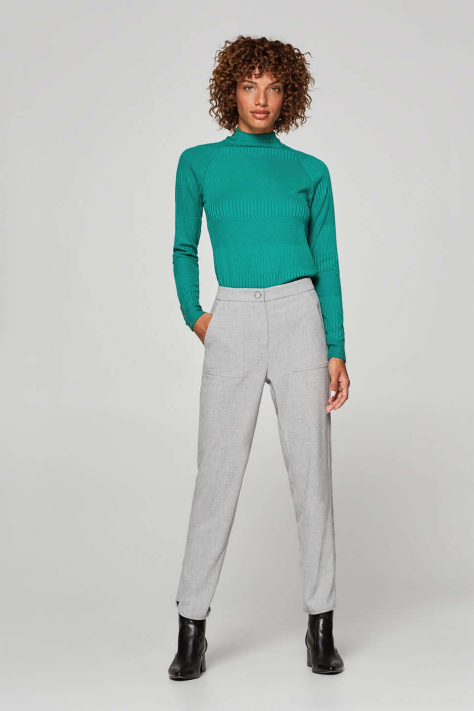edc - Stretch crêpe trousers in a tracksuit bottom style