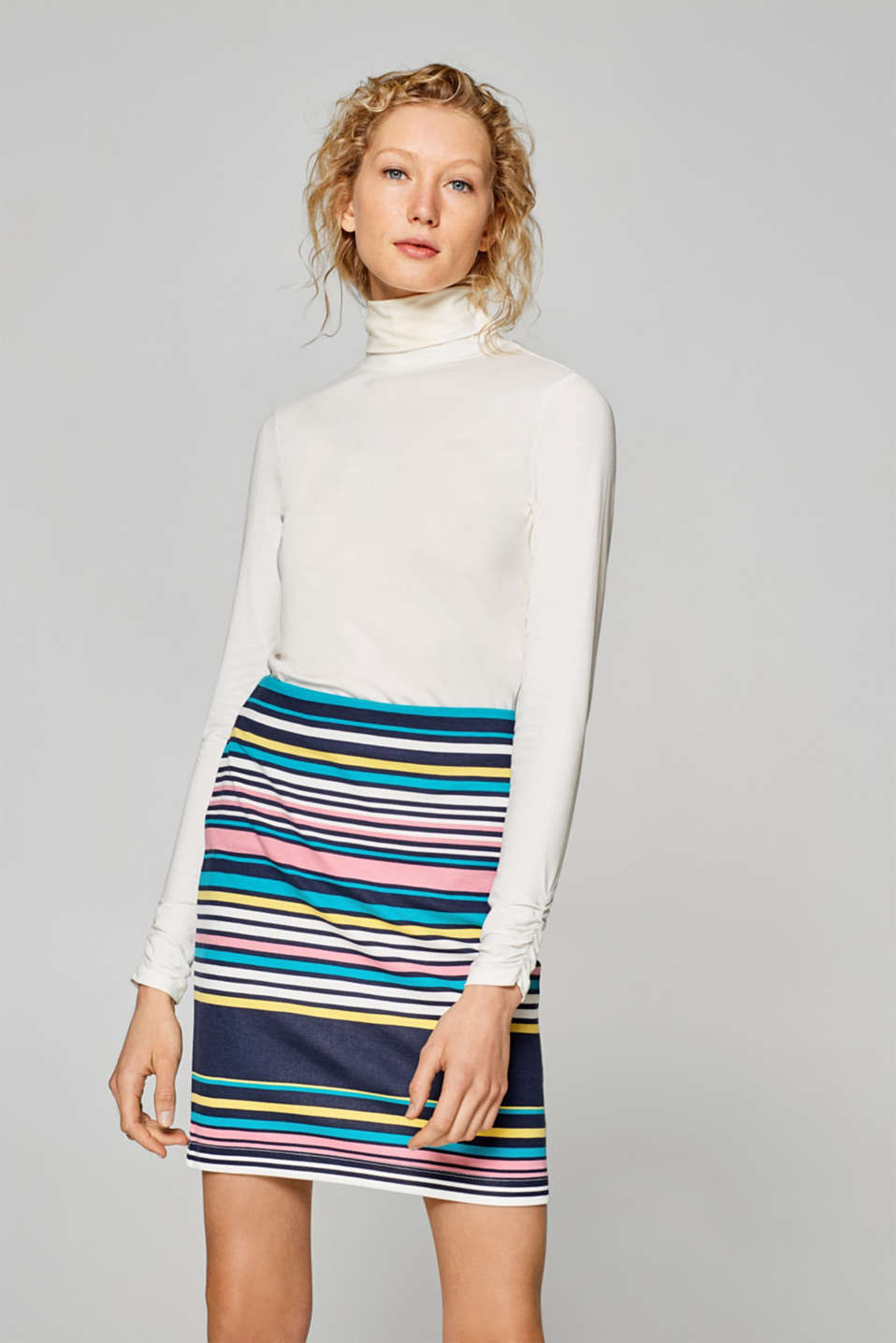 edc - Stretch skirt with stripes