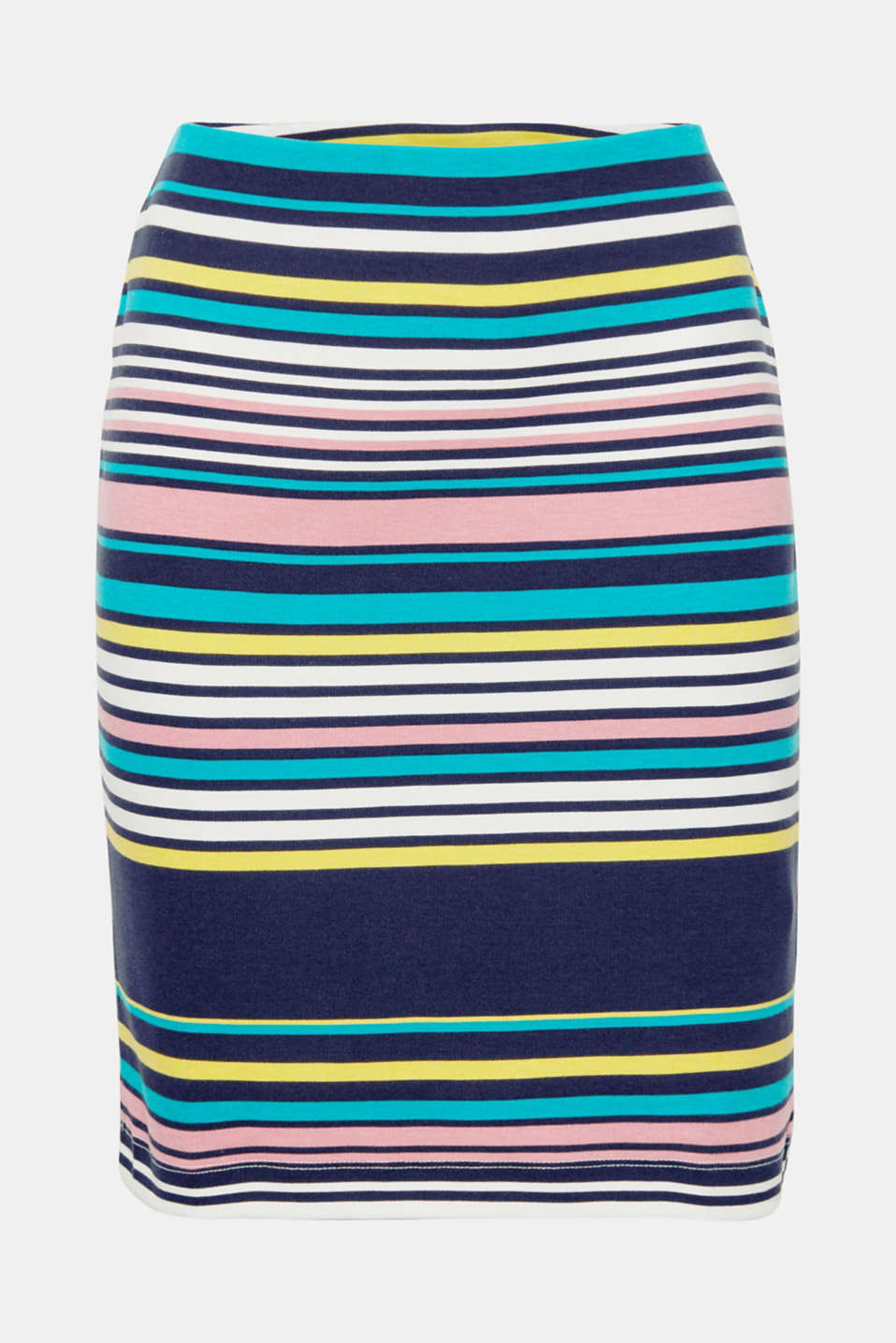 Good mood guaranteed! This colourful jersey skirt with a bold stripe print creates fun styles for everyday wear.