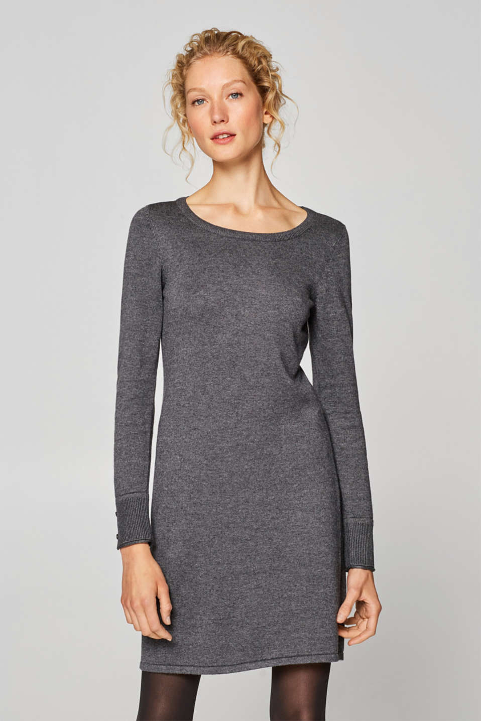 edc - Fine knit dress with organic cotton