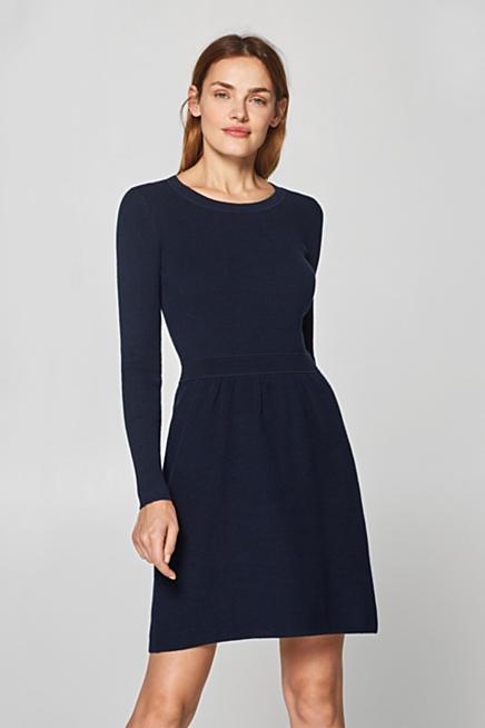 gebreide jurk katoen