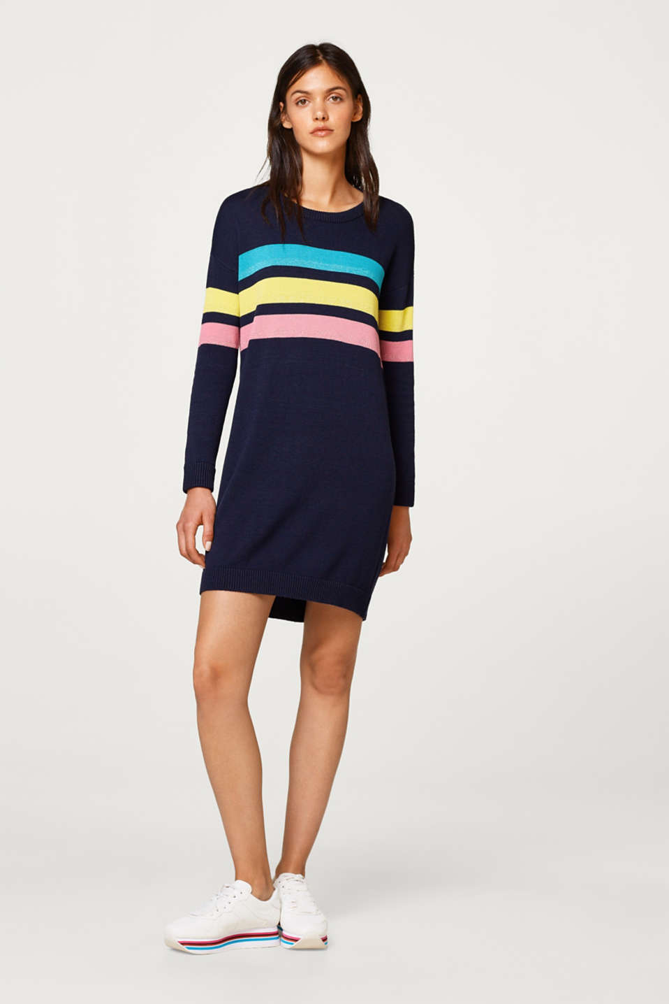 edc - Knitted dress with glittery stripes