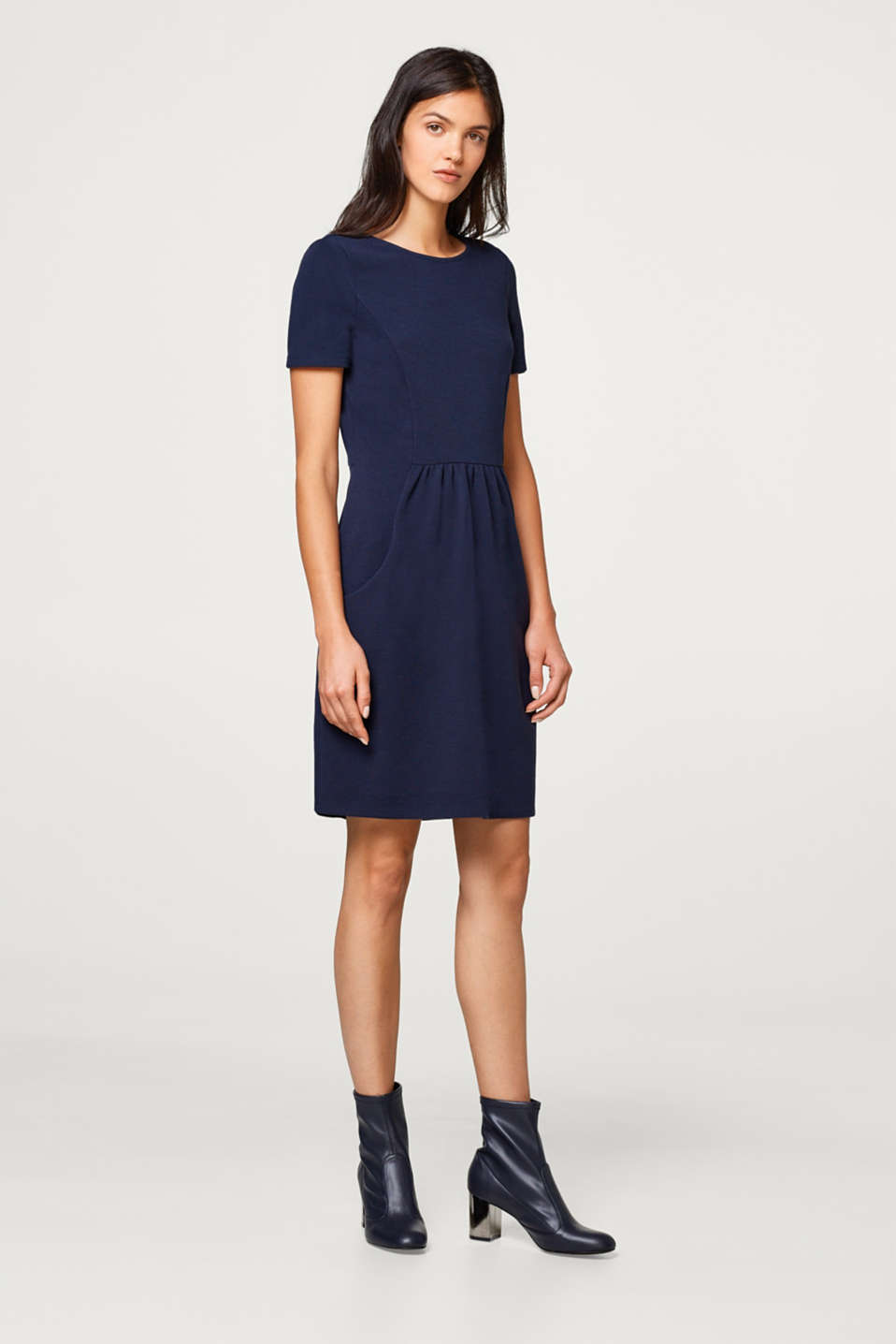 edc - Ribbed jersey dress with slit pockets