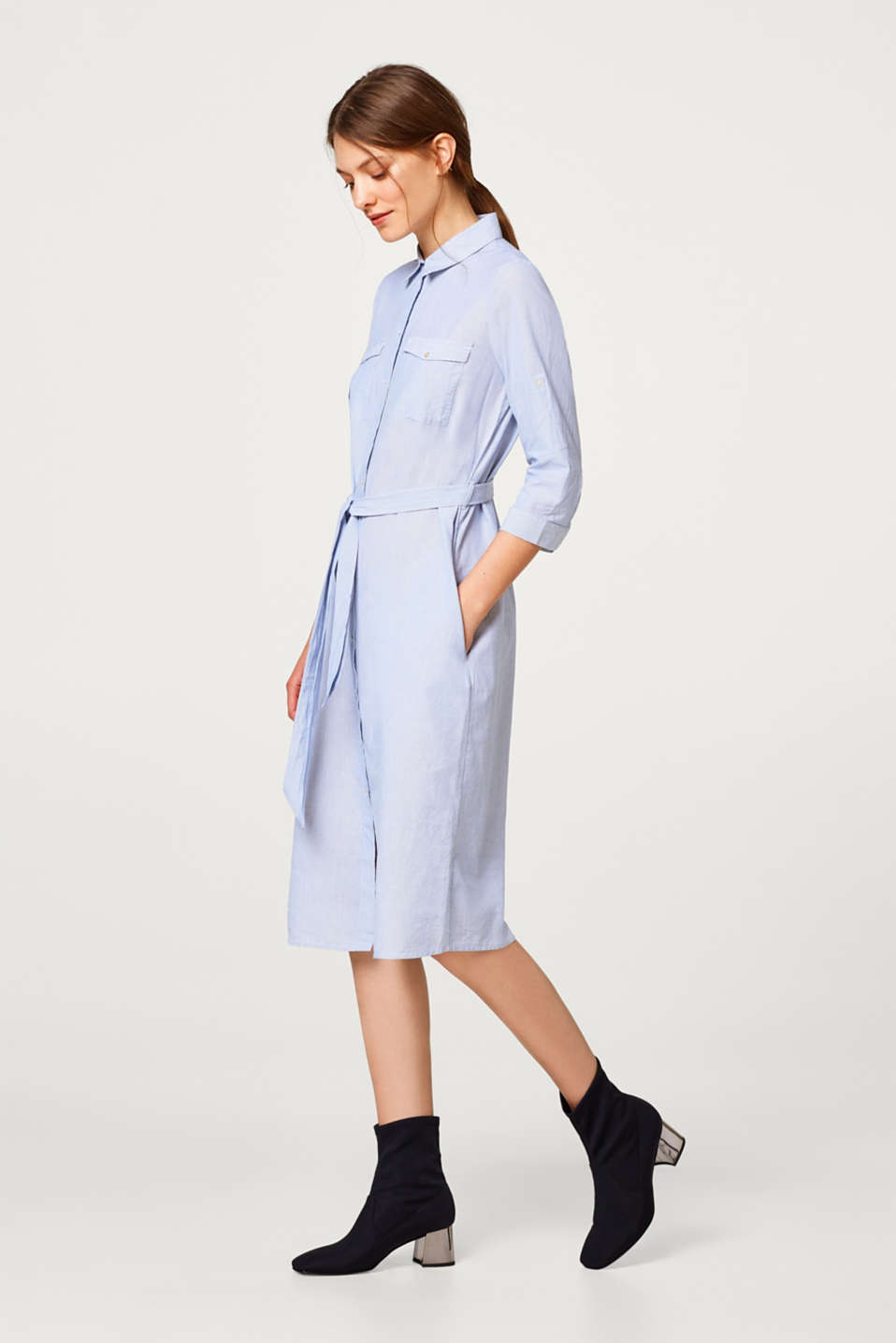 Shirt dress made of 100% cotton