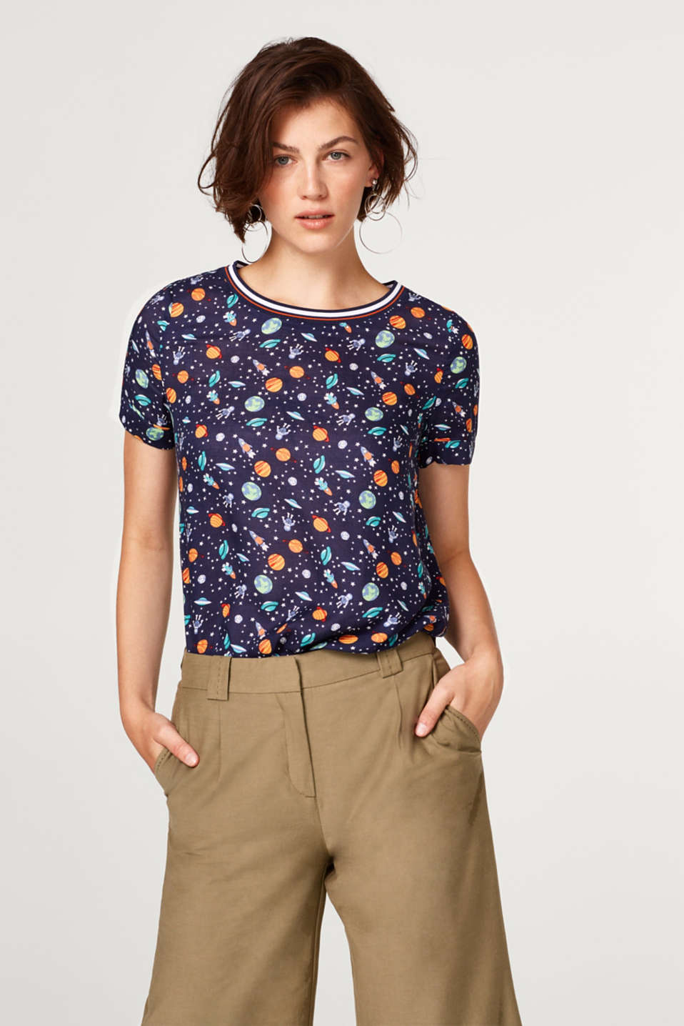 edc - Blouse top with a space print