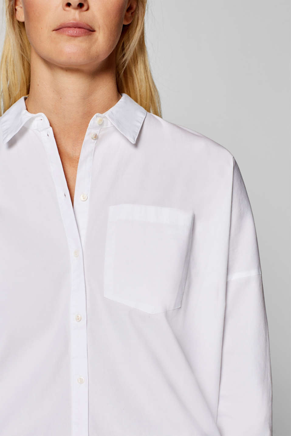 edc - Stretch blouse with layered back