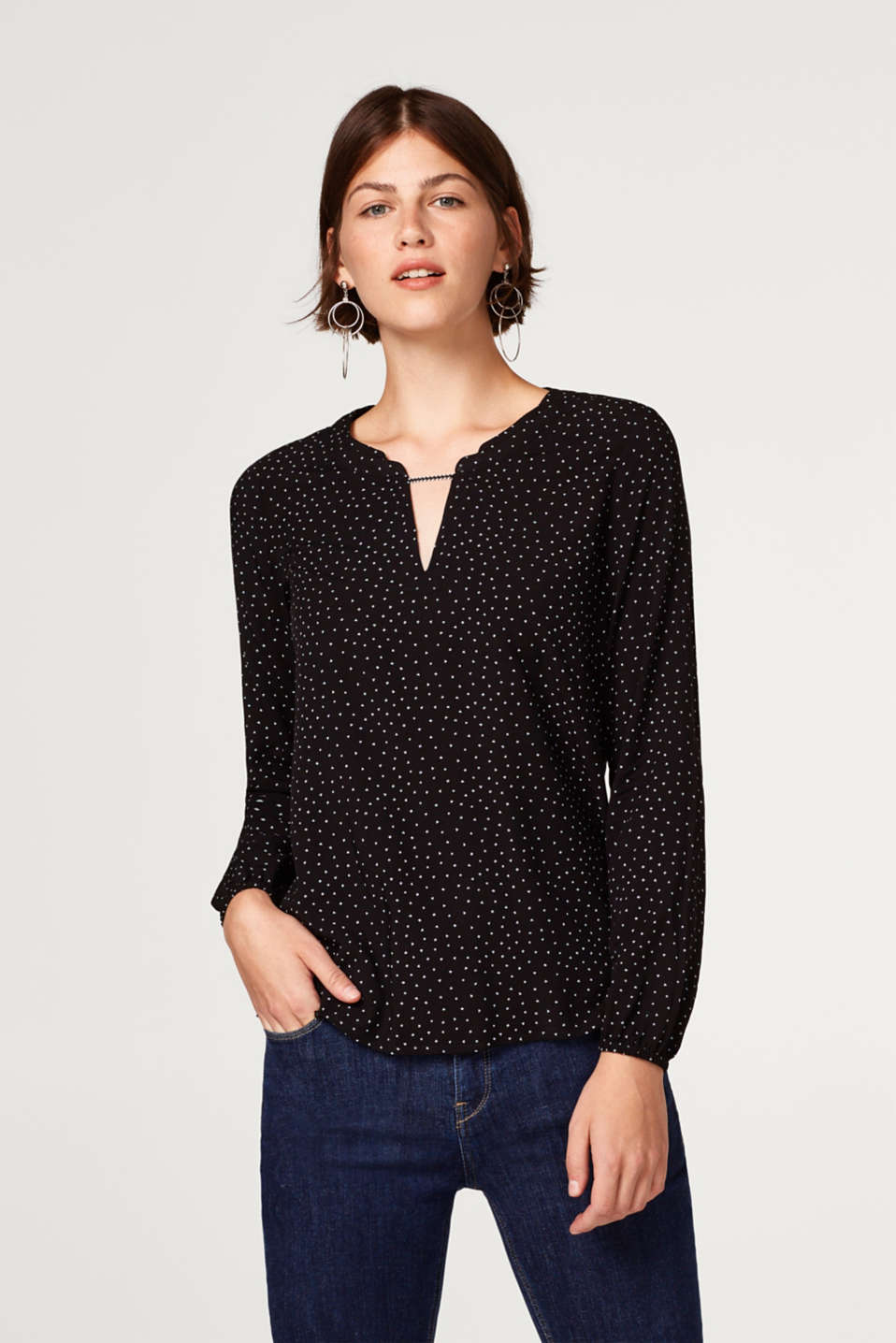 edc - Printed Henley style blouse
